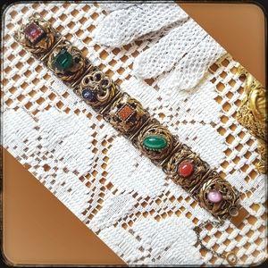 Antique Victorian Intaglio Paste Stone bracelet